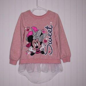 Disney Girl's Minnie Mouse Sweatshirt Size 6X